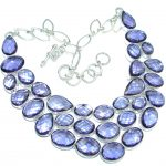Chunky Cascade of Lights created Alexandrite Sterling Silver entirely handcrafted necklace