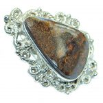 Huge Genuine Boulder Opal Sterling Silver handmade ring size 9