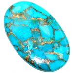 Big Blue Copper vains Turquoise 65 ct Stone