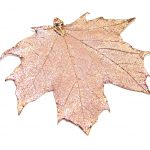 Stylish Deeped In Copper Real Leaf Sterling Silver Pendant