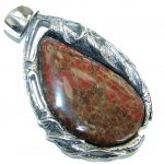 One of the kind Authentic Beauty Canadian Ammolite .925 Sterling Silver handmade Pendant