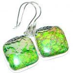 Stylish Sea Sediment Jasper .925 Sterling Silver earrings
