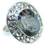 Energazing Swiss Blue Topaz Sterling Silver handmade Poison Ring size 9 3/4