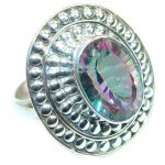Bold Exotic Magic Topaz Sterling Silver handmade Ring s. 9