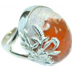 Mexican Opal oxidized .925 Sterling Silver handcrafted ring size 7 1/4