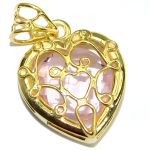 Perfect Pink Topaz .925 Sterling Silver handcrafted Pendant