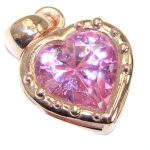Perfect Pink Topaz Rose Gold over .925 Sterling Silver handcrafted Pendant