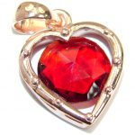 Perfect Red Topaz Rose Gold over .925 Sterling Silver handcrafted Pendant