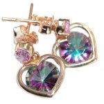 True Passion Topaz 14K Gold over .925 Sterling Silver handcrafted earrings