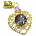 Perfect Magic Topaz Rose 14K Gold over .925 Sterling Silver handcrafted Pendant