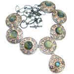 Vintage Design Labradorite Rose Gold .925 Sterling Silver entirely handcrafted necklace