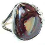 Australian Koroit Opal .925 Sterling Silver handcrafted Ring size 8 1/4