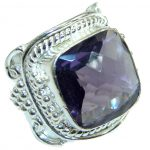 Purple Quartz .925 Sterling Silver ring s. 9 1/4