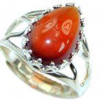 Genuine Garnet .925 Sterling Silver handmade Ring size 7 adjustable