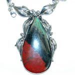 Fine Art Natural Sonora Jasper .925 Sterling Silver handmade necklace