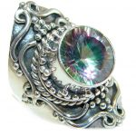 Magic Cubic Zirconia .925 Sterling Silver handmade Ring s. 6 3/4