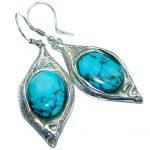 Genuine Turquoise .925 Sterling Silver handmade earrings
