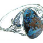 Nature Retrieve genuine Boulder Opal handmade .925 Sterling Silver handmade Bracelet
