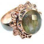 Silky Labradorite .925 Sterling Silver handmade Ring s. 7 adjustable