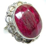 Simple Style lab. Ruby .925 Sterling Silver ring; s. 8