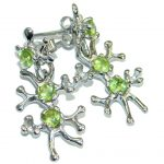 Nature Inspired Authentic Peridot .925 Sterling Silver handmade earrings