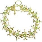 Green Reef genuine Peridot .925 Sterling Silver handmade Bracelet