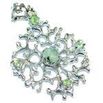 Unique Design Prehnite .925 Sterling Silver handmade pendant