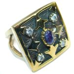 Majestic Authentic Onyx .925 Sterling Silver handmade Ring s. 8