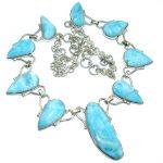 Sublime genuine Larimar .925 Sterling Silver handmade necklace