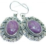 Amazing Purple Sugalite .925 Sterling Silver handcrafted earrings