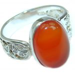 Genuine Mexican Opal .925 Sterling Silver handmade Ring size 7 1/4