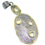 Unique Design Genuine Citrine .925 Sterling Silver handcrafted pendant