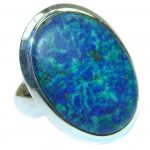 Blue Azurite .925 Sterling Silver Ring size 7 1/4