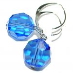 Just Perfect Blue Quartz .925 Sterling Silver earrings