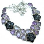 Great genuine Amethyst .925 Sterling Silver handmade Necklace