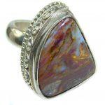 45ct Golden Pietersite .925 Sterling Silver handmade Ring size 9