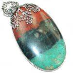 Huge Unique Natural Sonora Jasper .925 Sterling Silver handmade Pendant