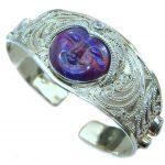 Genuine Blue Sodalite .925 Sterling Silver handmade Bracelet Cuff