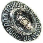 Mysterious Tourmalinated Quartz Sterling Silver handmad ring s. 8