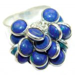 Blue Azurite .925 Sterling Silver Ring size 9