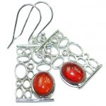 Authentic Garnet .925 Sterling Silver handmade earrings