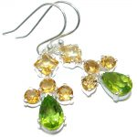 New Era Authentic Peridot .925 Sterling Silver handmade earrings