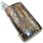 Huge Authentic Australian Boulder Opal .925 Sterling Silver handmade Pendant