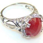 Beautiful Carnelian Sterling Silver ring s. 6 1/4