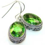 Basics Green Quartz Sterling Silver earrings