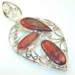 Natural Beauty Red Sonora Jasper Silver Pendant