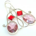 Awesome Light Purple Amethyst Sterling Silver earrings