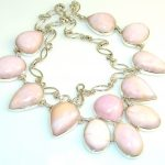Very Beautiful Pink Opal Sterling Silver Necklaces