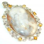 Big! Superior Quality Fancy Jasper Sterling Silver Pendant