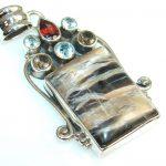 New!! Stylish Hypersthene Sterling Silver Pendant